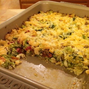 Mac, Meat, & Veggie Bake
